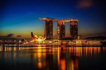 Singapur, Marina Bay am Morgen von Natasja Tollenaar