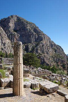 Bij de tempel van Apollo in Delphi, Griekenland