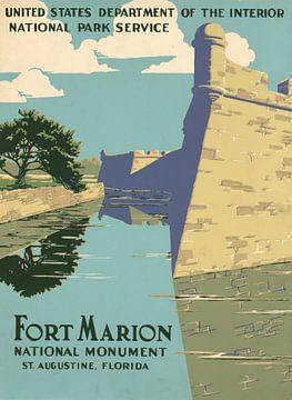 Fort Marion National Monument, St. Augustine, Florida van Vintage Afbeeldingen