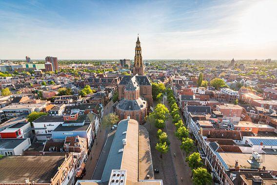 Uitzicht op Groningen (Der Aa-kerk & Korenbeurs) van Frenk Volt