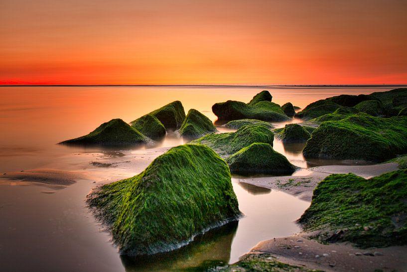 Sonnenuntergang Sonnenuntergang Katwijk aan Zee Niederlande von Wim van Beelen
