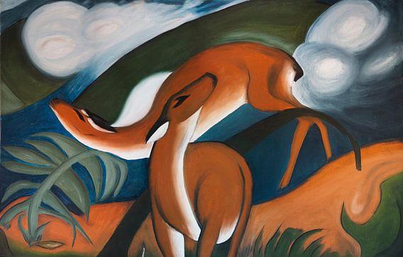 Repaint Herten (Franz Marc) van Jan Wiersma