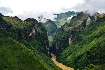 Kräftige Grüntöne in den Bergen von Ha Giang von Zoe Vondenhoff