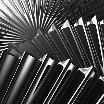 Wellenrandscheiben schwarzweiß sur Jörg Hausmann