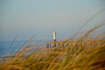 De pier baadt in de winterzon van Robin Geets