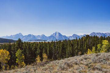Uitzicht op de Grand Tetons in Grand Teton Nationaal Park van Maarten Oerlemans