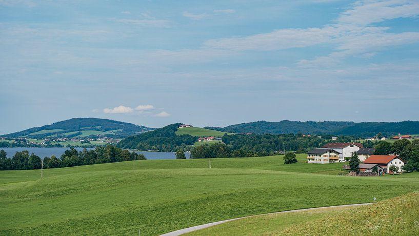 Seekirchen am Wallersee - vue de Henndorf sur Rob van der Pijll