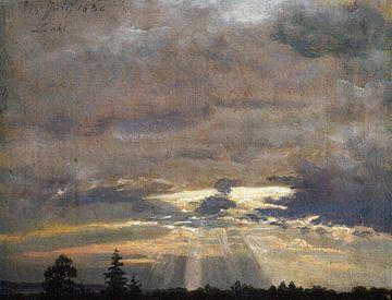 Wolkenstudie mit Sonnenstrahlen, Johan Christian Dahl