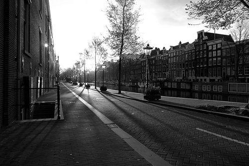 Lege gracht Amsterdam van