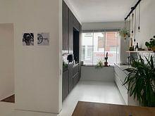 Klantfoto: Bianchi kunst 2 - VtWonen van Leon van Bon, op staal
