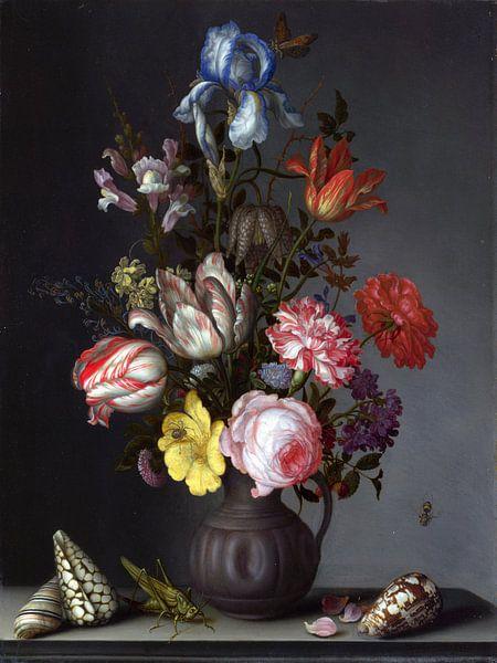 Balthasar van der Ast, Bloemen in een vaas van Meesterlijcke Meesters