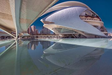 Le théâtre de Valence, Espagne, dans le quartier des Arts et des Sciences sur Harrie Muis