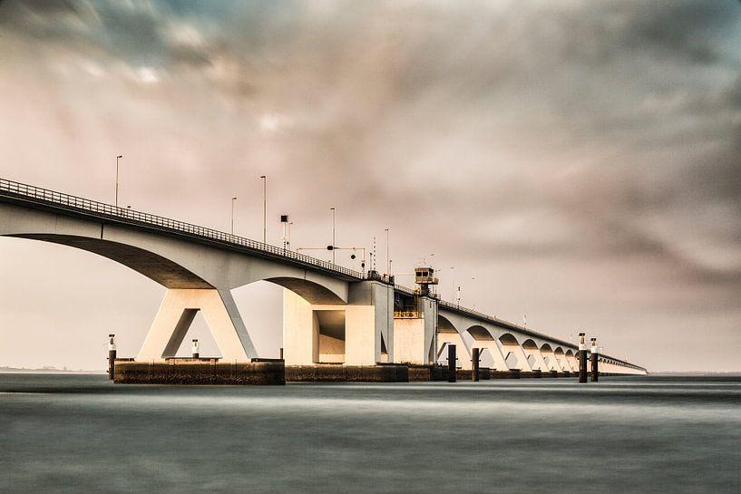 Zeelandbrug-03, Pont sur l'estuaire de Oosterschelde sur Frans Lemmens