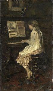 Meisje aan de piano, Jacob Maris