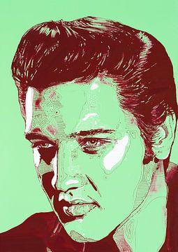 Elvis Presley schilderij van Jos Hoppenbrouwers