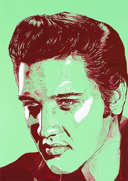 Elvis Presley malerei von Jos Hoppenbrouwers