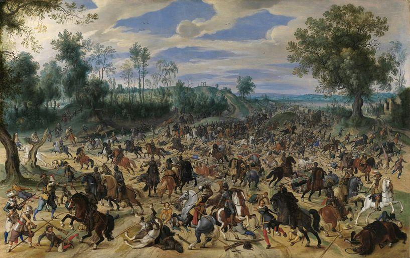 Ein Angriff auf eine Karawane, Sebastiaen Vrancx von Meesterlijcke Meesters