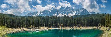 LAKE CAREZZA and mountain range | Panoramic van