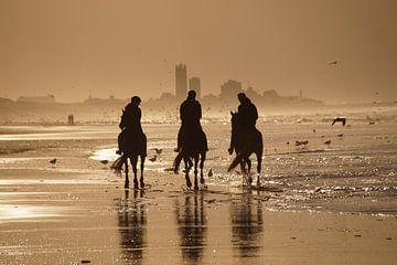 Paarden in de branding van Jan Nuboer