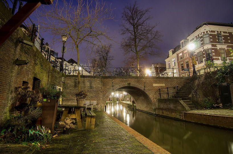 Avond in Utrecht van Mark Bolijn