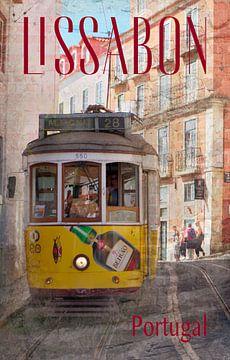Straßenbahn in Lissabon von Berthold Werner