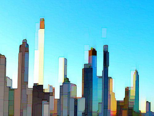 23. city-art, abstract, stad D. van Alies werk