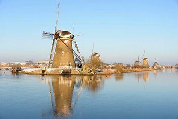 Hiver aux Pays-Bas avec des moulins à vent sur iPics Photography