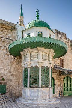 Hütte für die Al-Muallaq Moschee in Accra, Israel von Joost Adriaanse