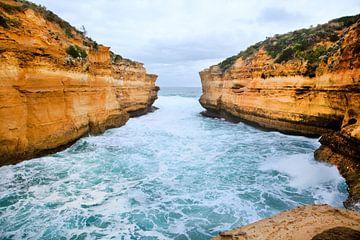 Rotsformatie Australië nabij de great ocean road van Ivonne Wierink