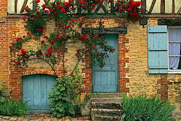 Facade in Gerberoy. sur Yvonne Blokland