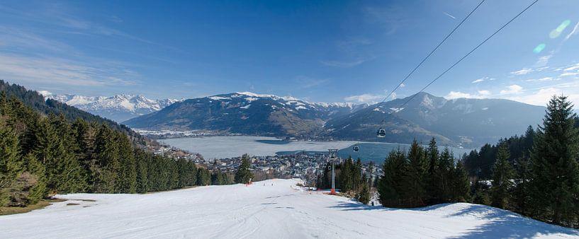 Panorama Zell am See - Oostenrijk van Jack Koning
