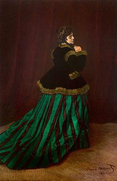 De vrouw in de groene jurk - Claude Monet