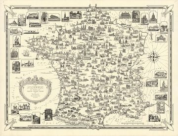 Frankreich durch Ernest Dudley Chase von World Maps