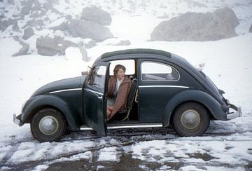Vintage foto VW kever 1955 von Jaap Ros