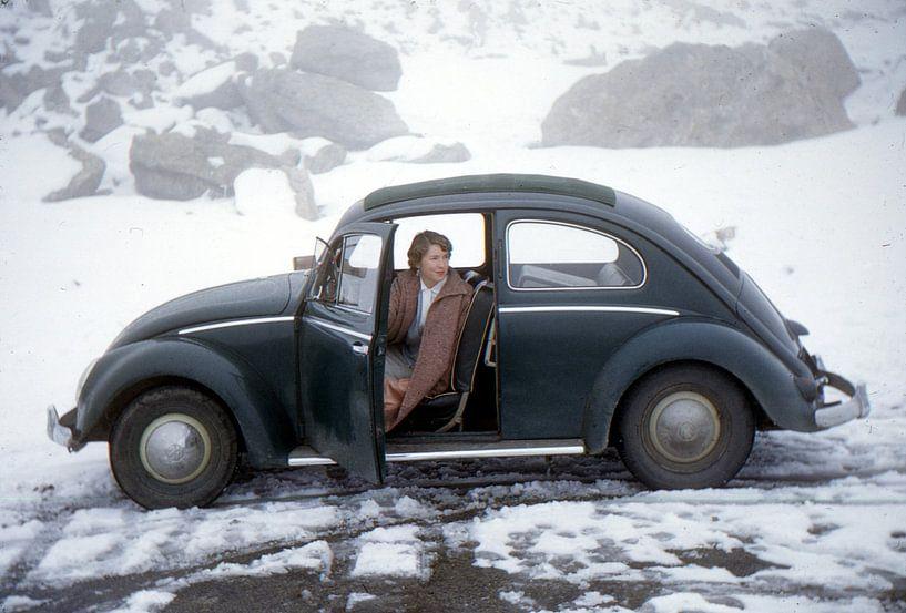 Vintage foto VW kever 1955 van Jaap Ros