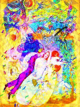 Art Party Bruiloft met Chagall, Rotko en Zanolino van Giovani Zanolino