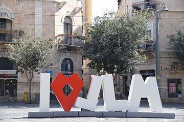 I Love Jerusalem Sign von Chantal Schutte