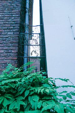 Utrecht -  Ruimte tussen gebouwen van Wout van den Berg