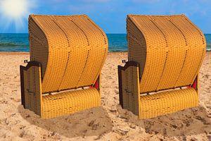 Baltic Sea beach chairs