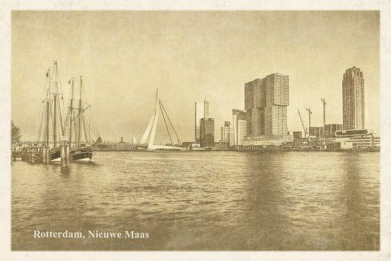 Oude ansichten: Rotterdam Nieuwe Maas