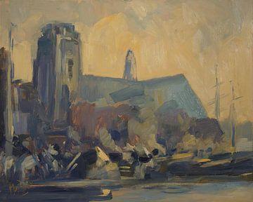 Schiffe bei der Großen Kirche