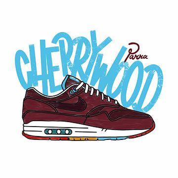 """Nike Air Max 1 """"Parra Cherrywood"""" von Pim Haring"""