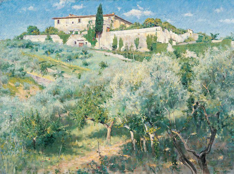 Louis Ritter-Villa Castellani, Bellosquardo, bei Florenz 1892 von finemasterpiece