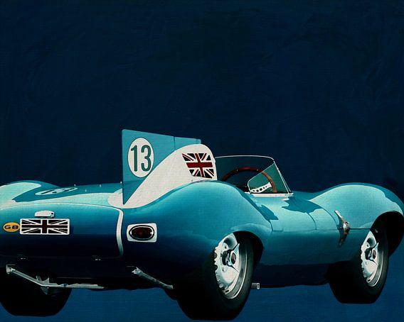 Jaguar Type D 1956 Achterzijde