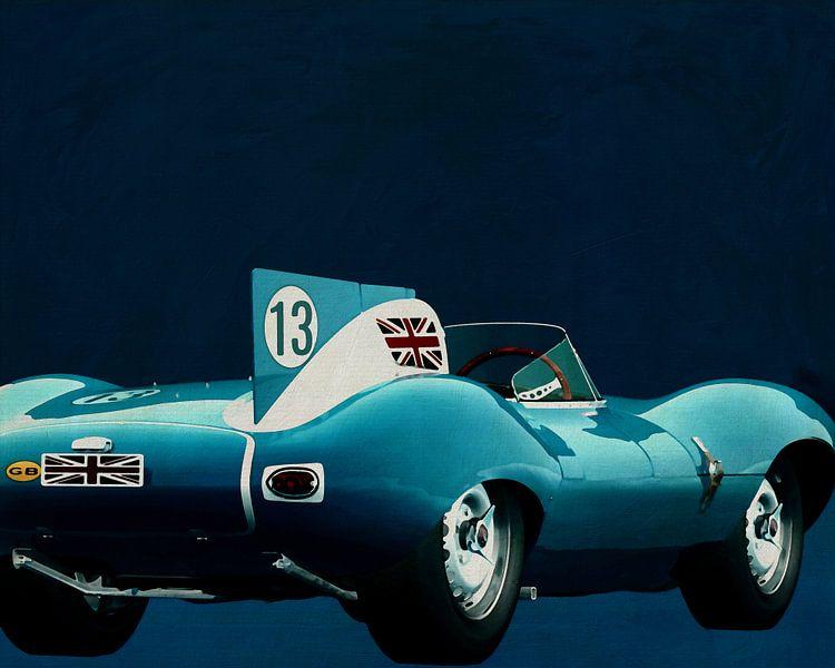 Jaguar Typ D 1956 Rückseite von Jan Keteleer