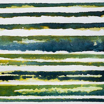 Linien der Erde von WatercolorWall