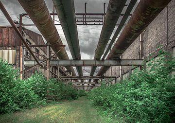 Alte Fabrikrohre von Olivier Van Cauwelaert