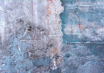 Abstracte betonnen muur van Sigrid Klop