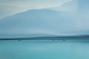 Nevel over het meer van Richard Geven