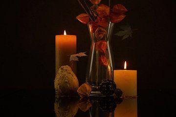 Der Herbst im Spiegel von Karin aan de muur